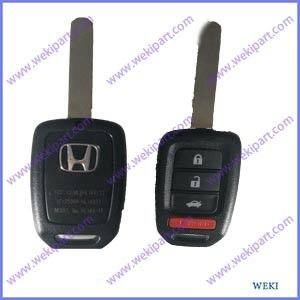OEM Honda Car Remote Key , Honda Remote Head Key 4 Button MLBHLIK6-1T 315mhz